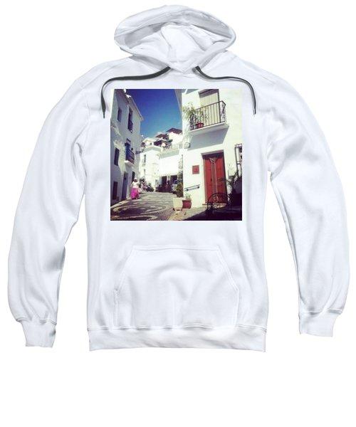Calles De Frigiliana, Pueblo Blanco De Malaga - Spain Sweatshirt