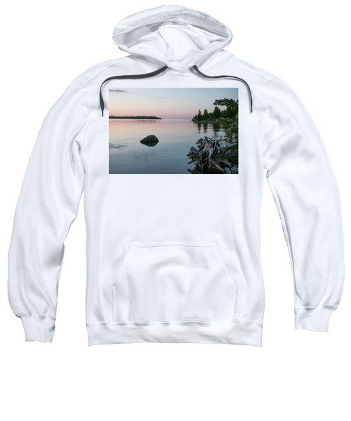 Calm Water At Lake Huron Crystal Point Sweatshirt