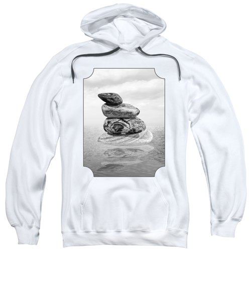 Calm Waters In Black And White Sweatshirt
