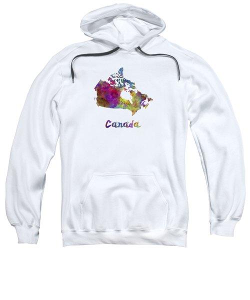 Canada In Watercolor Sweatshirt