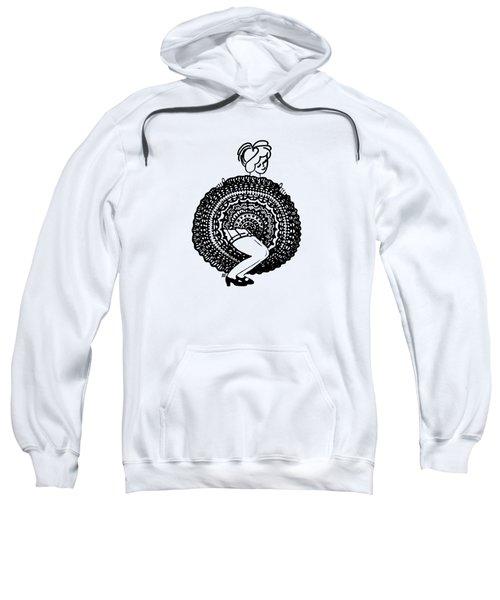 Cancan Girl Blacktransparent Background Sweatshirt
