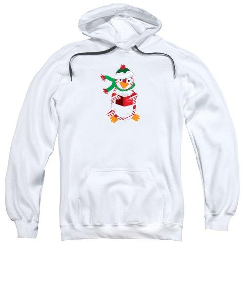 Candy Cane Penguin Sweatshirt by Jane E Rankin