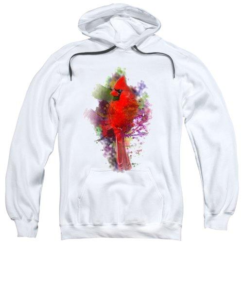 Cardinal Watercolor Sweatshirt