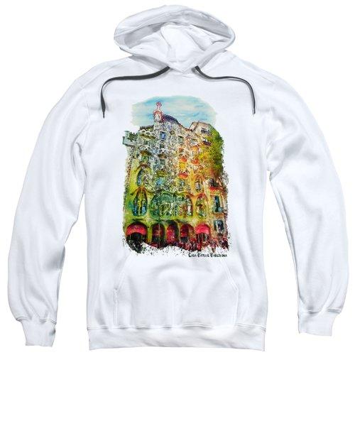 Casa Batllo Barcelona Sweatshirt by Marian Voicu