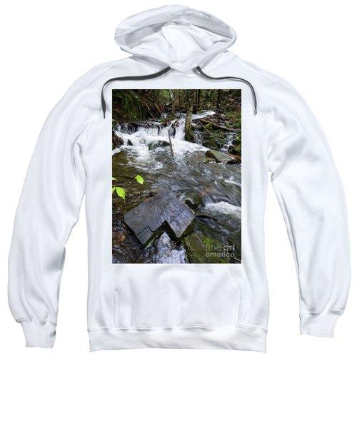 Cascade Falls Stream, Farmington, Maine  -30329 Sweatshirt