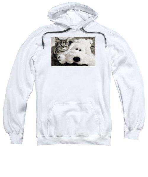 Cat And Dog In B W Sweatshirt
