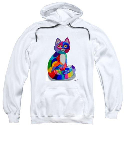 Cat And Kittens 2 Sweatshirt