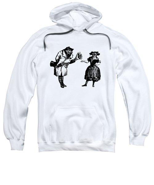 Cat And Mouse Grandville Transparent Background Sweatshirt
