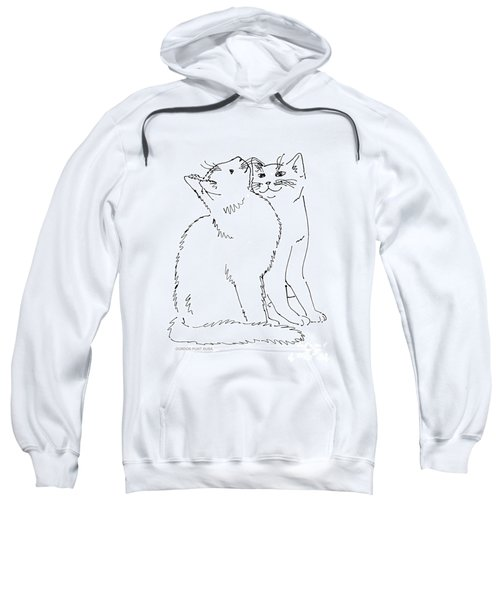 Cat-art-curious Sweatshirt