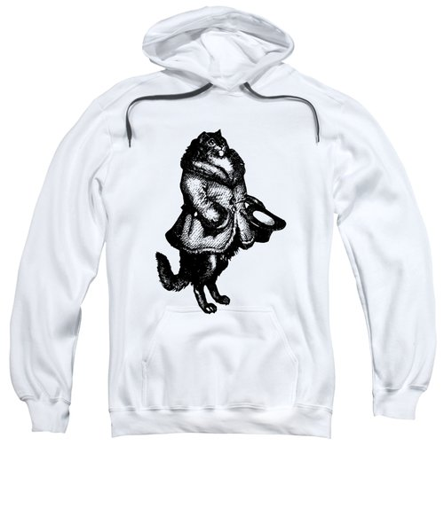 Cat Caller Grandville Transparent Background Sweatshirt