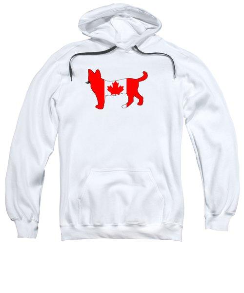 Cat Canada Sweatshirt by Mordax Furittus