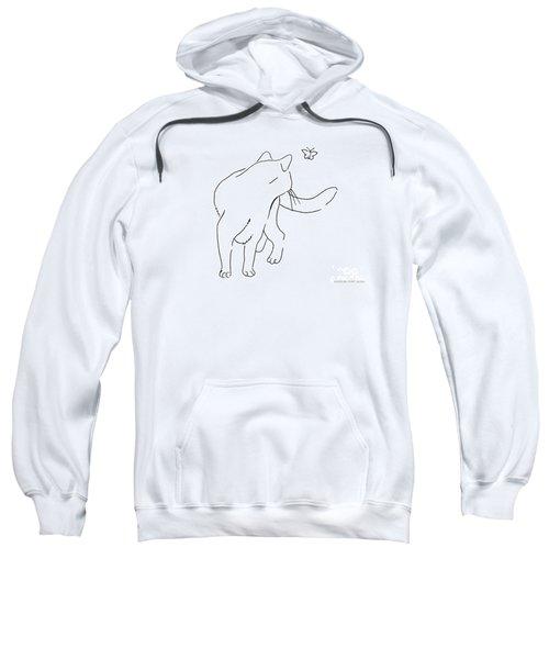 Cat-drawings-black-white-2 Sweatshirt