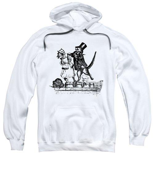 Cat Love Grandville Transparent Background Sweatshirt