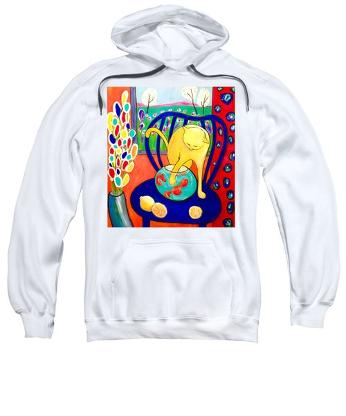 Cat - Tribute To Matisse Sweatshirt