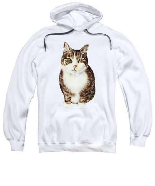Cat Watercolor Illustration Sweatshirt