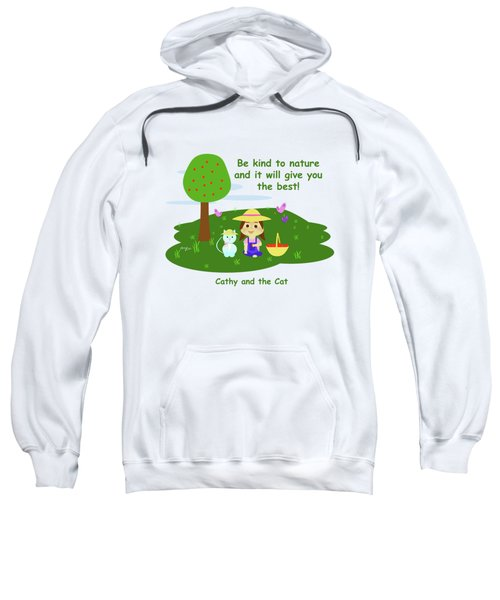 Cathy And The Cat Are Kind To Nature Sweatshirt