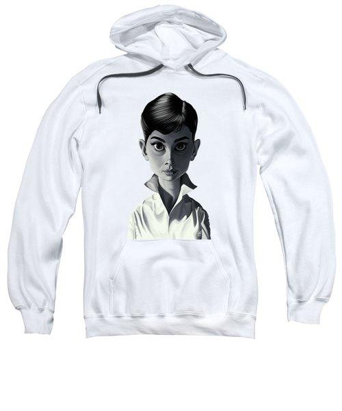 Celebrity Sunday - Audrey Hepburn Sweatshirt by Rob Snow