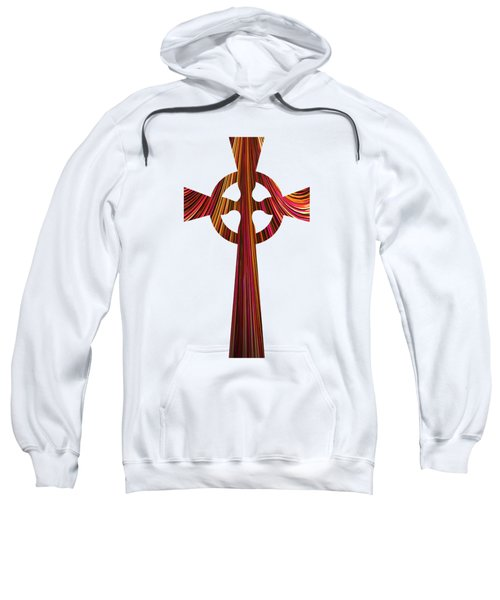 Celtic Cross With Fractal Abstract Fill Sweatshirt