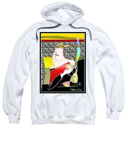 Champagne For One At The Zebra Lounge Sweatshirt