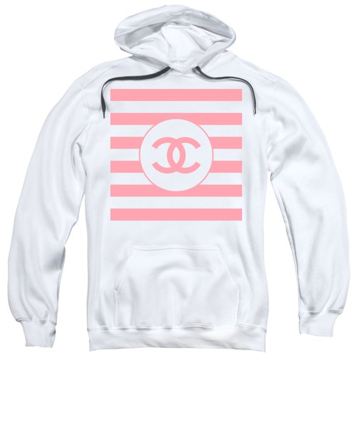 Chanel - Stripe Pattern - Pink - Fashion And Lifestyle Sweatshirt