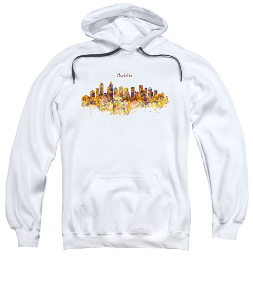 Charlotte Watercolor Skyline Sweatshirt by Marian Voicu