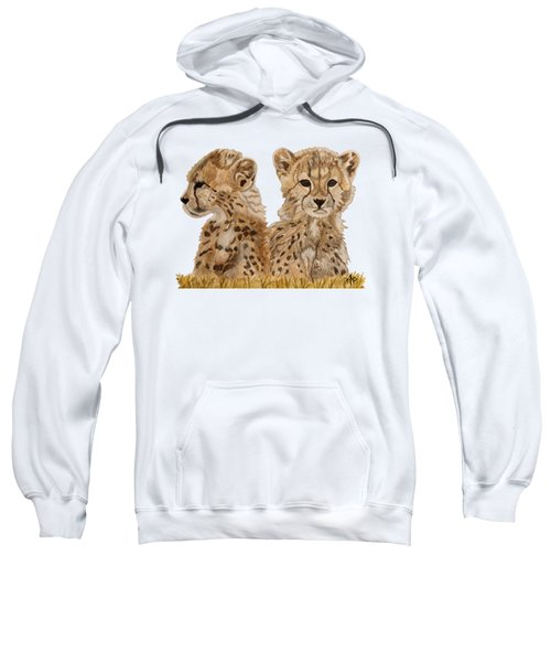 Cheetah Cubs Sweatshirt by Angeles M Pomata