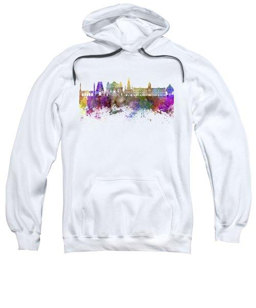 Chennai Skyline In Watercolor Background Sweatshirt