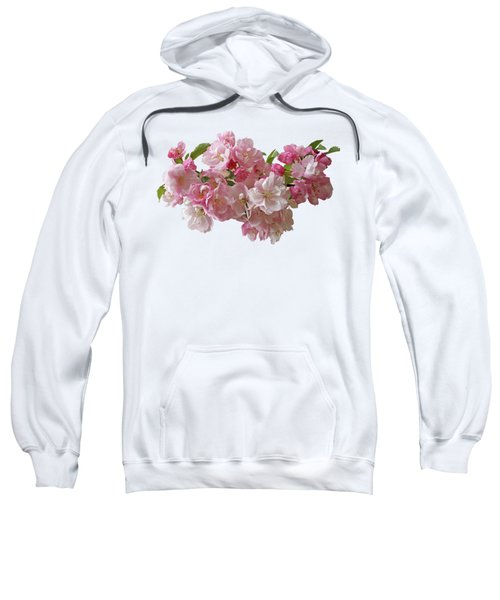 Cherry Blossom On Black Sweatshirt
