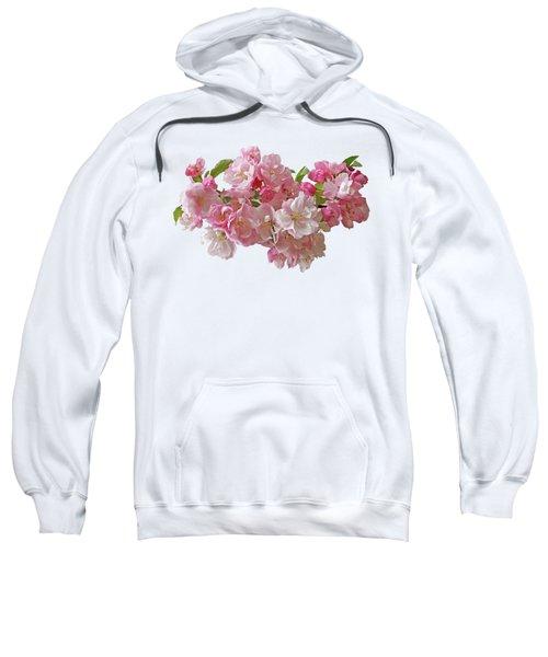 Cherry Blossom On White Sweatshirt