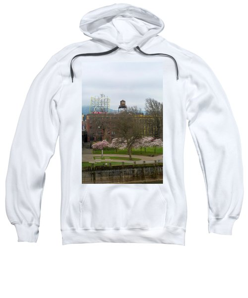Cherry Blossoms Trees In Portland Old Town Sweatshirt