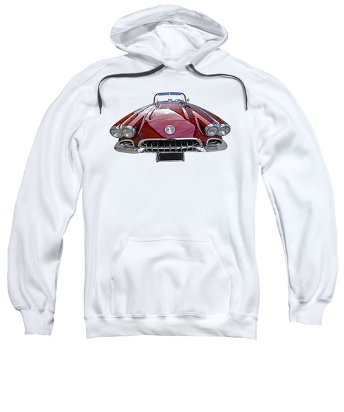 Chevrolet Corvette C1 1958 Head On Sweatshirt