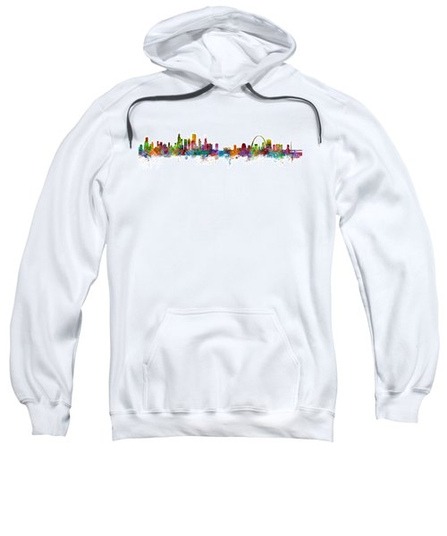 Chicago And St Louis Skyline Mashup Sweatshirt by Michael Tompsett