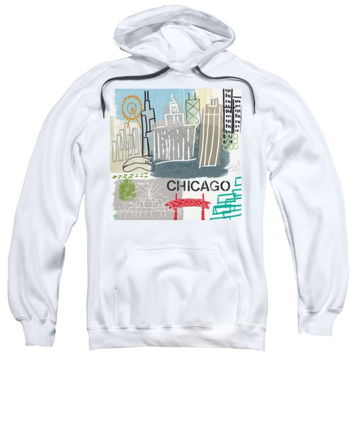Chicago Cityscape- Art By Linda Woods Sweatshirt
