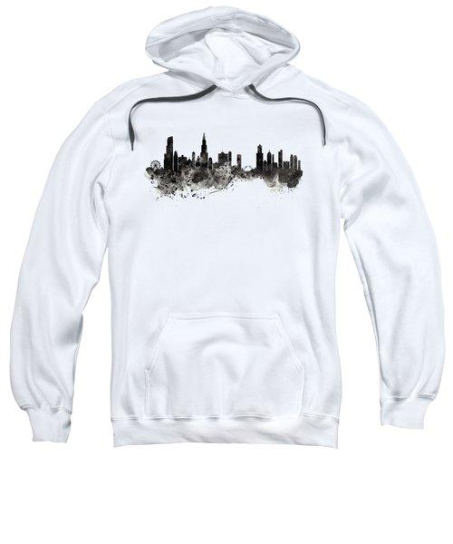 Chicago Skyline Black And White Sweatshirt