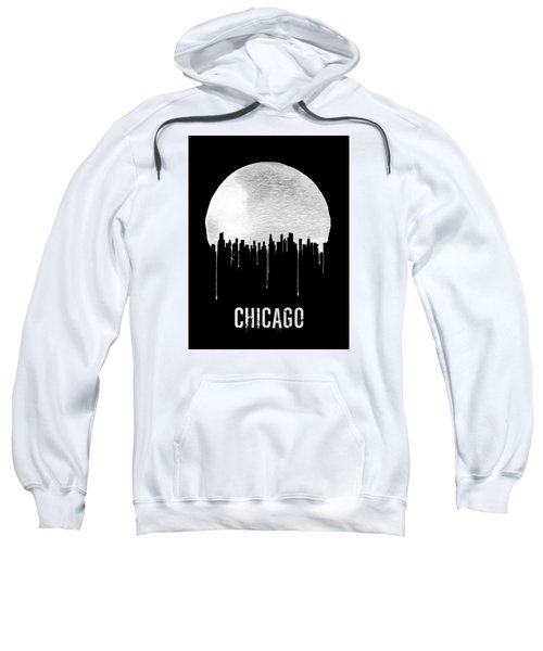 Chicago Skyline Black Sweatshirt by Naxart Studio