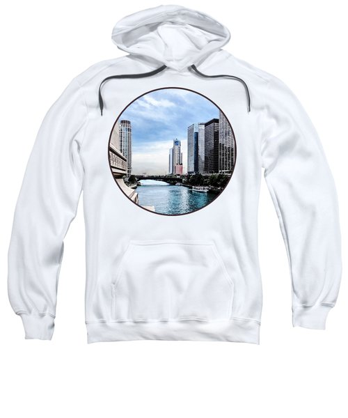Chicago - View From Michigan Avenue Bridge Sweatshirt