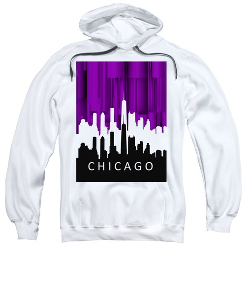 Chicago Violet In Negative Sweatshirt by Alberto RuiZ