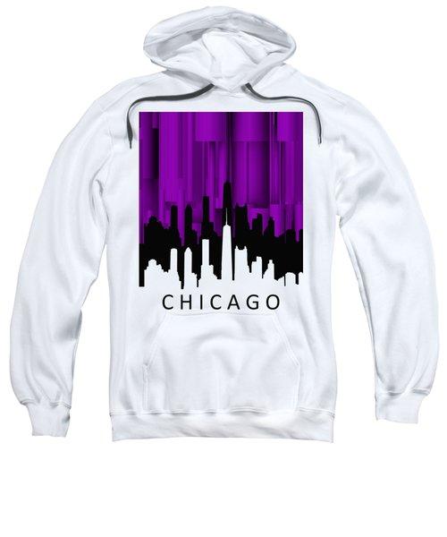 Chicago Violet Vertical  Sweatshirt