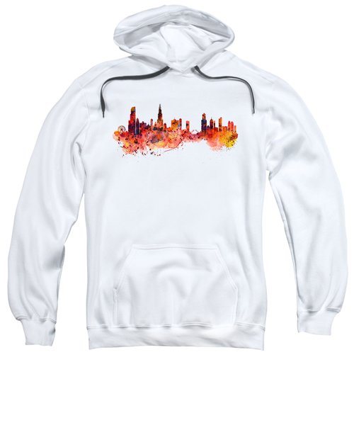 Chicago Watercolor Skyline Sweatshirt