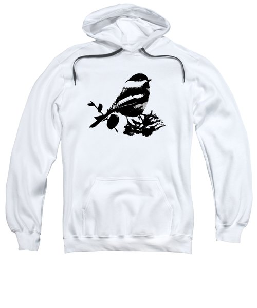 Sweatshirt featuring the mixed media Chickadee Bird Pattern by Christina Rollo