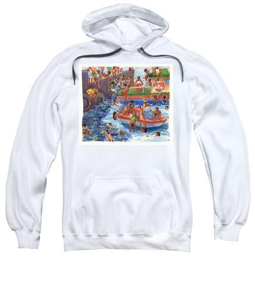 Children Playing At Avarua Wharf  Sweatshirt