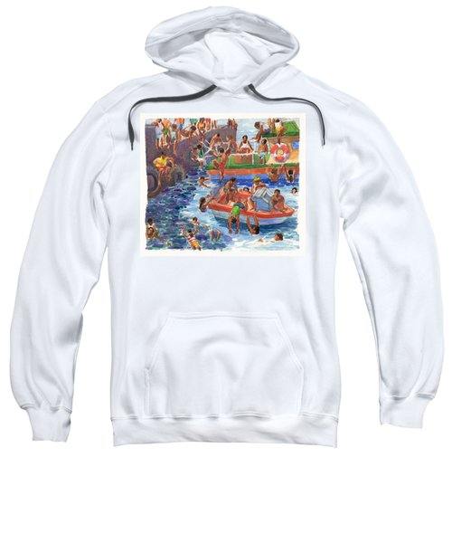 Children Playing At Avarua Wharf  Sweatshirt