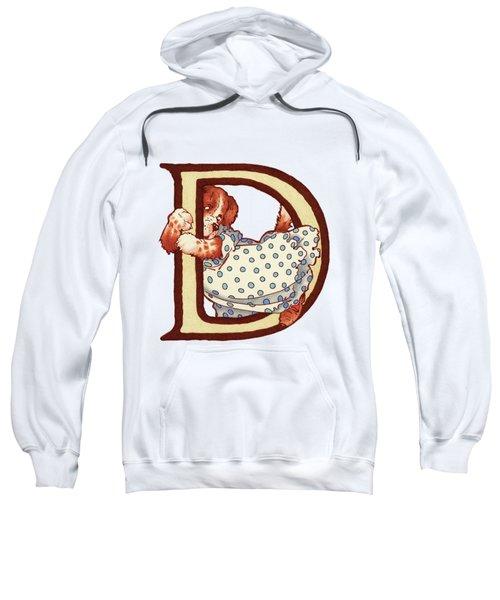 Children's Letter D Sweatshirt by Andrea Richardson