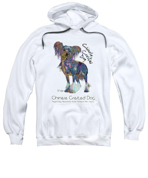 Chinese Crested Dog Pop Art Sweatshirt