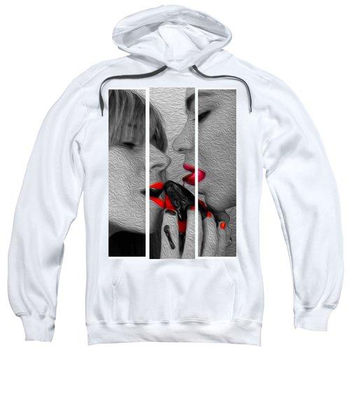 Chocolate Kiss-tryptych Sweatshirt