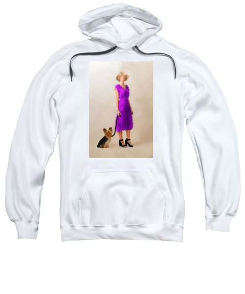 Sweatshirt featuring the digital art Christina by Nancy Levan