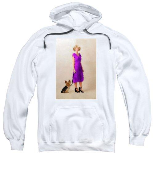 Sweatshirt featuring the digital art Christina by Nancy Levan