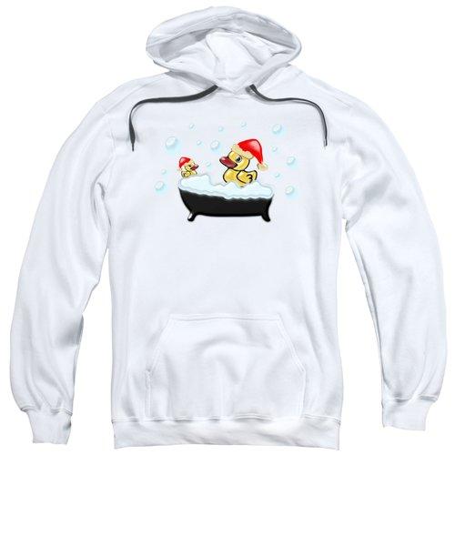 Christmas Ducks Sweatshirt by Anastasiya Malakhova