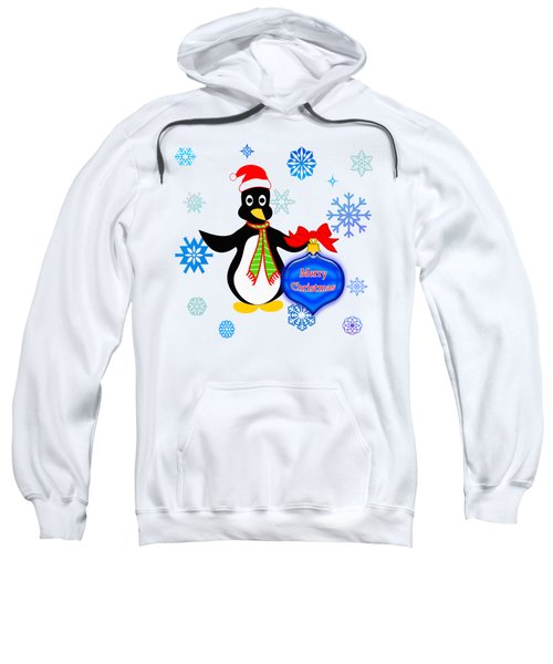Christmas Penguin Sweatshirt by Methune Hively