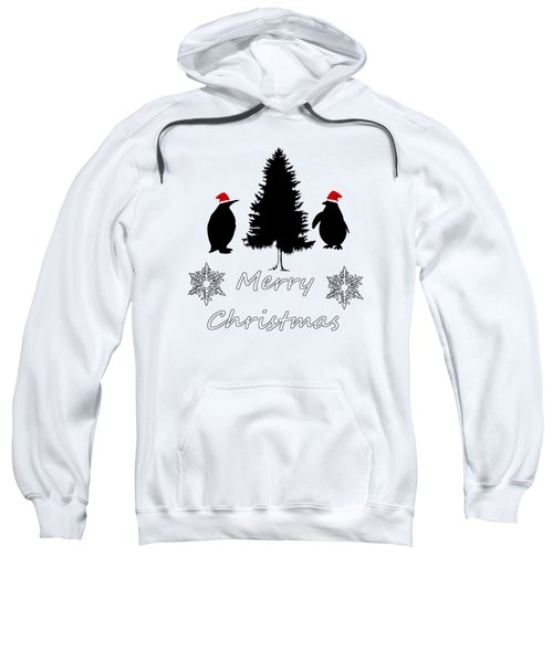 Christmas Penguins Sweatshirt by Mordax Furittus